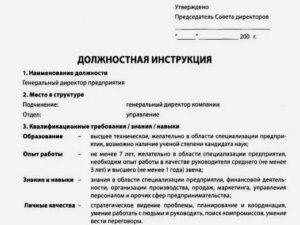 Ведущий специалист отдела кадров должностная инструкция 2020
