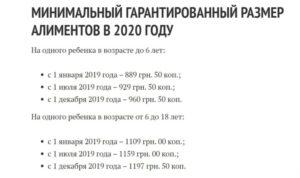 Алименты в днр 2020 год размер