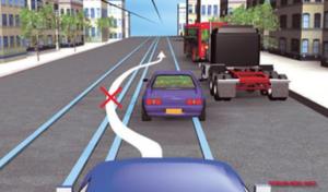 Разрешен ли обгон трамвая по путям втречног онаправления