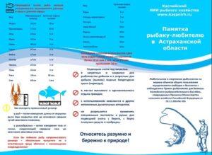 Правила рыболовства в астраханской области 2020 года