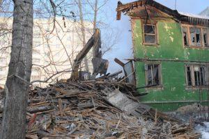 Сносимые аварийные дома в энгельсе