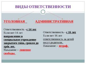 Отличия уголовной и административной ответственности на примере хулиганства или кражи