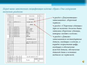 Спецификация онлайн заполнение