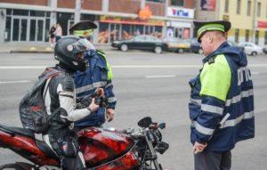 Штраф за езду без прав 2020 на мотоцикле