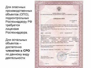 Перечень документов для получения лицензии на опо в ростехнадзоре