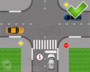 Правила проезда перекрестка на знак стоп на белом