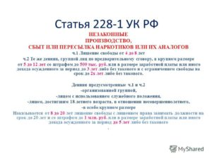 228 статья с ч2 и 3 удо изменениями 2020 года