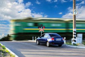 Нарушение правила проезда железнодорожного переезда