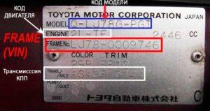 Как узнать модель двигателя по номеру двигателя