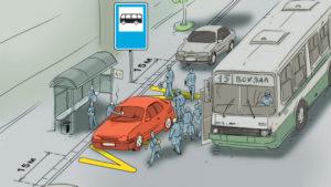 Создание помех общественному транспорту штраф 5 16