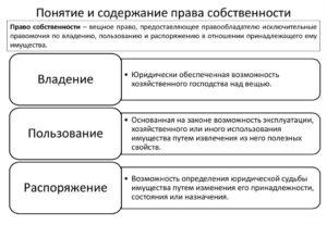 Понятие и содержание права собственности шпаргалка