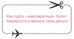 Как вернуть невозвратный билет на самолет аэрофлот
